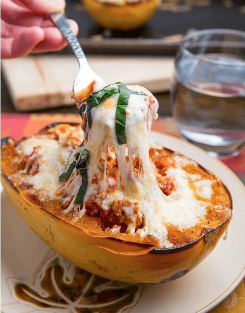 Luscious Lasagna Stuffed Spaghetti Squash Healthy Yummy